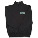 Quarter Zip Sweatshirt - BLACK - $35