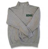 Quarter Zip Sweatshirt - GREY - $35